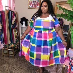 Halloween Plaid Plus Size Vintage Dress Size 24